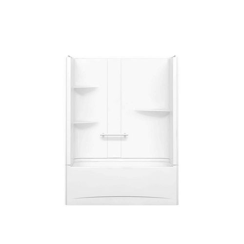 Camelia 60-inch x 32-inch x 79-inch 2-Piece Acrylic Tub and Shower with Left Drain in White