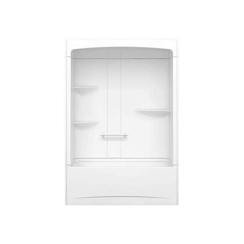 Camelia 60-inch x 32-inch x 88-inch 3-Piece Acrylic Tub and Shower with Left Drain in White