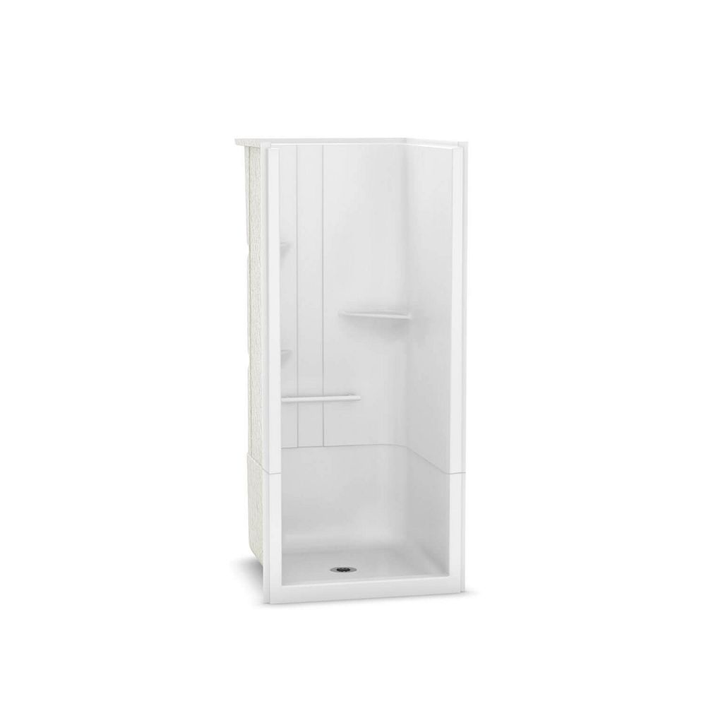 MAAX Camelia 36-inch x 36-inch x 79-inch 2-Piece Acrylic Shower with Centre Drain in White