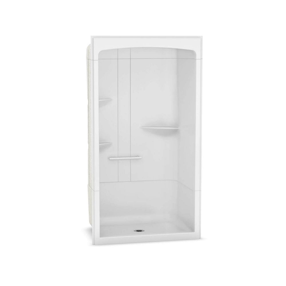 MAAX Camelia 48 inch x 34 inch x 88 inch 3-piece Acrylic Shower with Center Drain in White