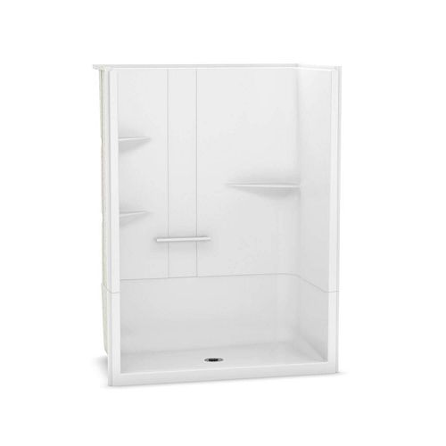 Camelia 60 inch x 34 inch x 79 inch 2-piece Acrylic Shower with Center Drain