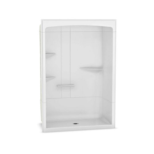 Camelia 60 inch x 34 inch x 88 inch 3-piece Acrylic Shower with Center Drain