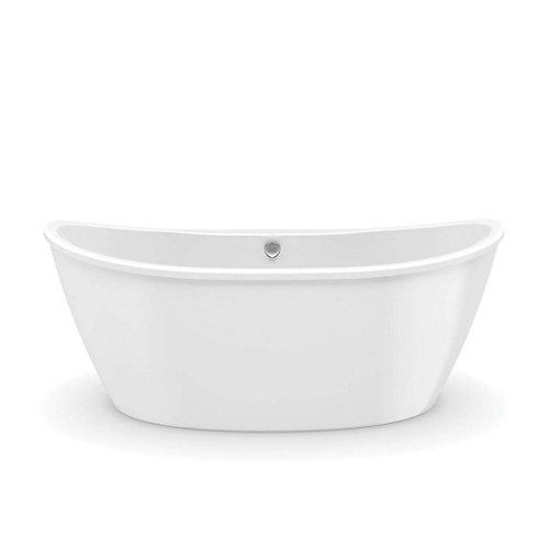 Delsia 5.5 ft. Fiberglass 2-piece Freestanding Bathtub in White