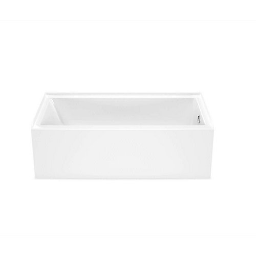 Bosca 60-inch x 30-inch Rectangular Alcove Bathtub with Right Drain in White