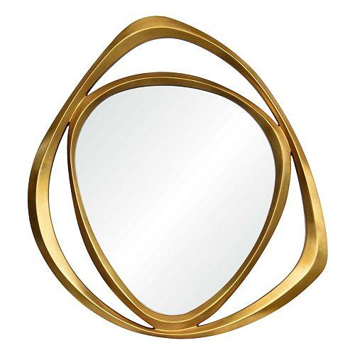 """Miroir mural moderne encadré """"Goldie"""" 42 po H x 39 1/2 L"""