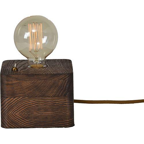 "Lampe de table ""Nora"" 9 1/3 x 6 L en Noyer"