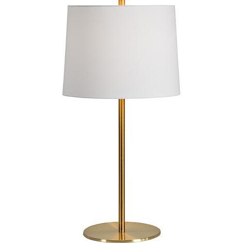 """Lampe de table en laiton antique avec abat-jour """"Rexmund"""" 27 po H x 13 1/2 L"""
