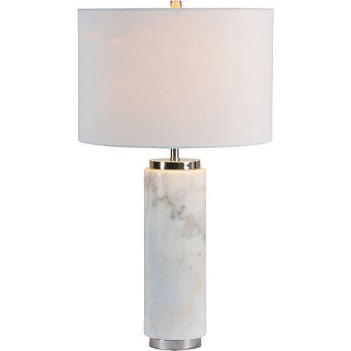"""Lampe de table naturel avec abat-jour en lin """"Heathcroft"""" 26 1/2 po H x 15 L"""