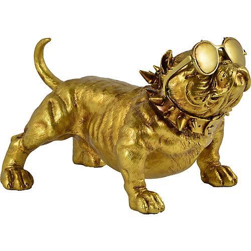 """Statue décorative """"Bailey"""" 12 po H x 19 L fini en or"""