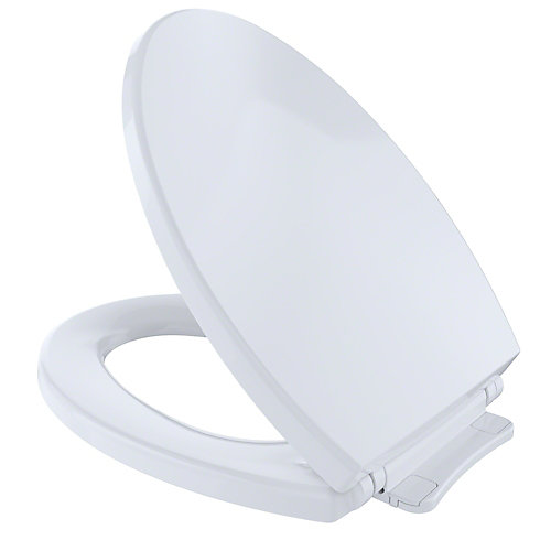 SoftClose Non Slamming, Slow Close Elongated Toilet Seat and Lid, Cotton White