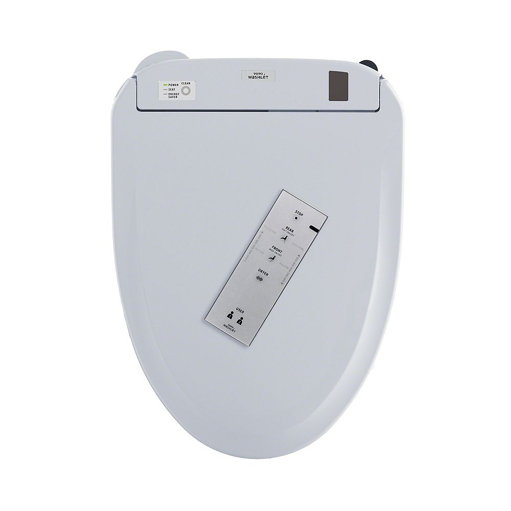 TOTO Connect WASHLET S350e Elongated Bidet Toilet Seat with Auto Open/Close and EWATER, Cotton White