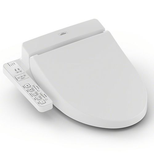 Washlet C100 Elongated Bidet Toilet Seat with PreMist, Cotton White
