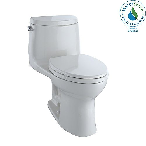 UltraMax II 1-Piece Elongated 1.28 GPF Universal Height Toilet with CeFiONtect, Colonial White
