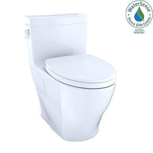 Legato WASHLET 1-Piece Elongated 1.28 GPF Universal Height Skirted Toilet, Cotton White