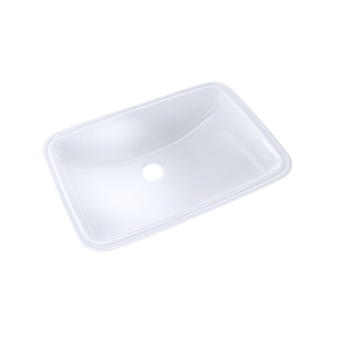 19 inch x 12-3/8 inch Rectangular Undermount Bathroom Sink with CeFiONtect, Cotton White
