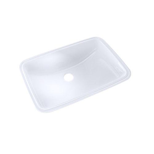 Lavabo de salle de bain rectangulaire 19 x 12-3 / 8 avec CeFiONtect , coton blanc