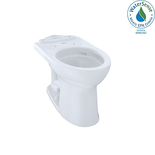 Drake II Universal Height Elongated Toilet Bowl with CeFiONtect, Cotton White