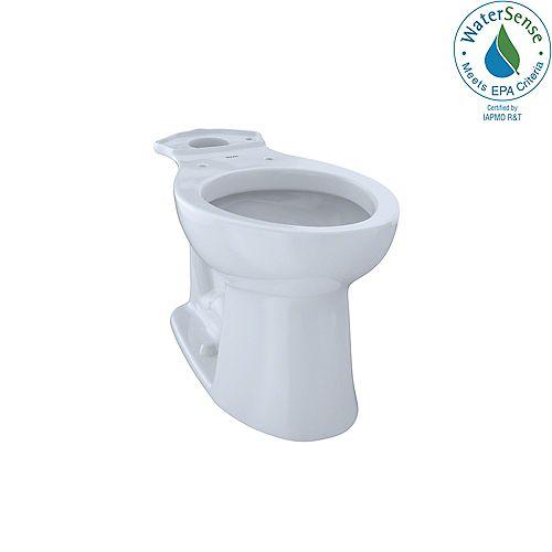 Entrada Universal Height Elongated Toilet Bowl, Cotton White