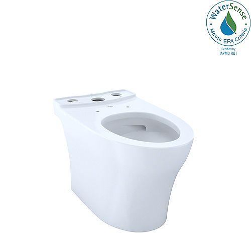 Aquia IV Elongated Skirted Toilet Bowl with CeFiONtect, Cotton White