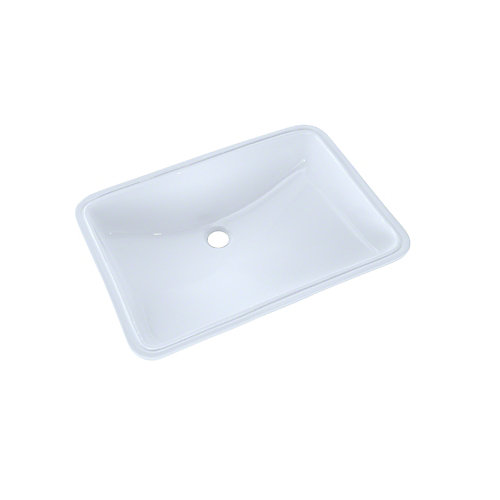 21-1/4 inch x 14-3/8 inch Large Rectangular Undermount Bathroom Sink with CeFiONtect, Cotton White