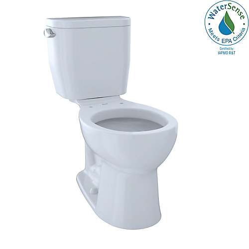 Entrada 2-Piece Round 1.28 GPF Universal Height Toilet, Cotton White