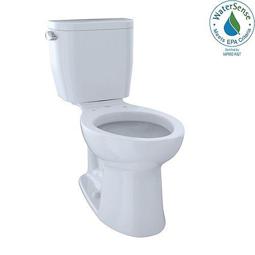 Entrada 2-Piece Elongated 1.28 GPF Universal Height Toilet, Cotton White