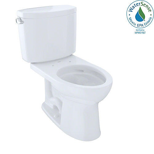 Drake II 2-Piece Elongated 1.28 GPF Universal Height Toilet with CeFiONtect, Cotton White