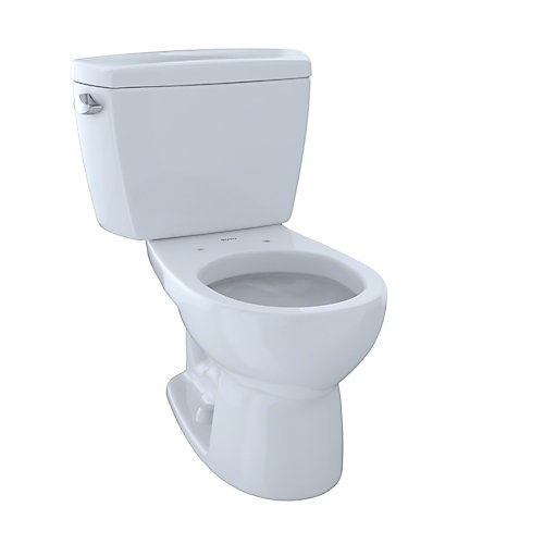 Drake 2-Piece Round 1.6 GPF Toilet, Cotton White