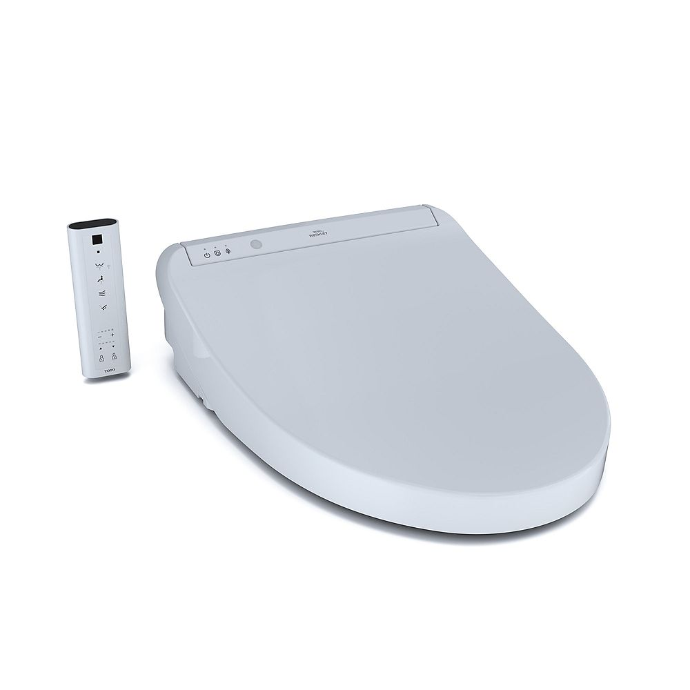 TOTO K300 WASHLET Elongated Bidet Toilet Seat Featuring Instantaneous Water Heating, Pre-mist, Cotton