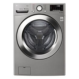 5.2 cu. ft. Smart Front Load Washer with Ultra Large Capacity and Wi-Fi in Graphite Steel, Stackable