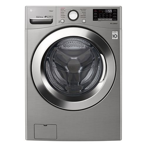 5.2 cu. ft. Smart Front Load Washer with Ultra Large Capacity and Wi-Fi in Graphite Steel, Stackable - ENERGY STAR®