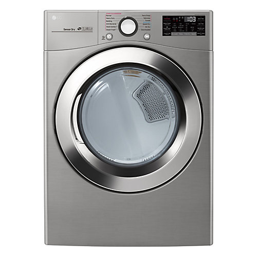 7.4 cu. ft. Ultra Large Capacity Electric Dryer with TrueSteam Technology In Graphite Steel - ENERGY STAR®