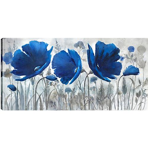 Blue Florals, Printed Canvas Unframed