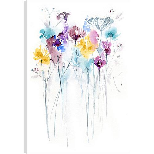 Les fleurs XI, Art, Art mur de toile imprimé abstrait