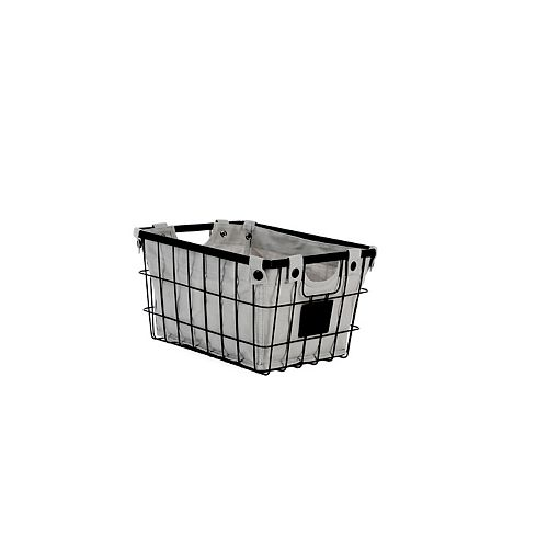 Hampton Bay Small Wire Basket with Liner