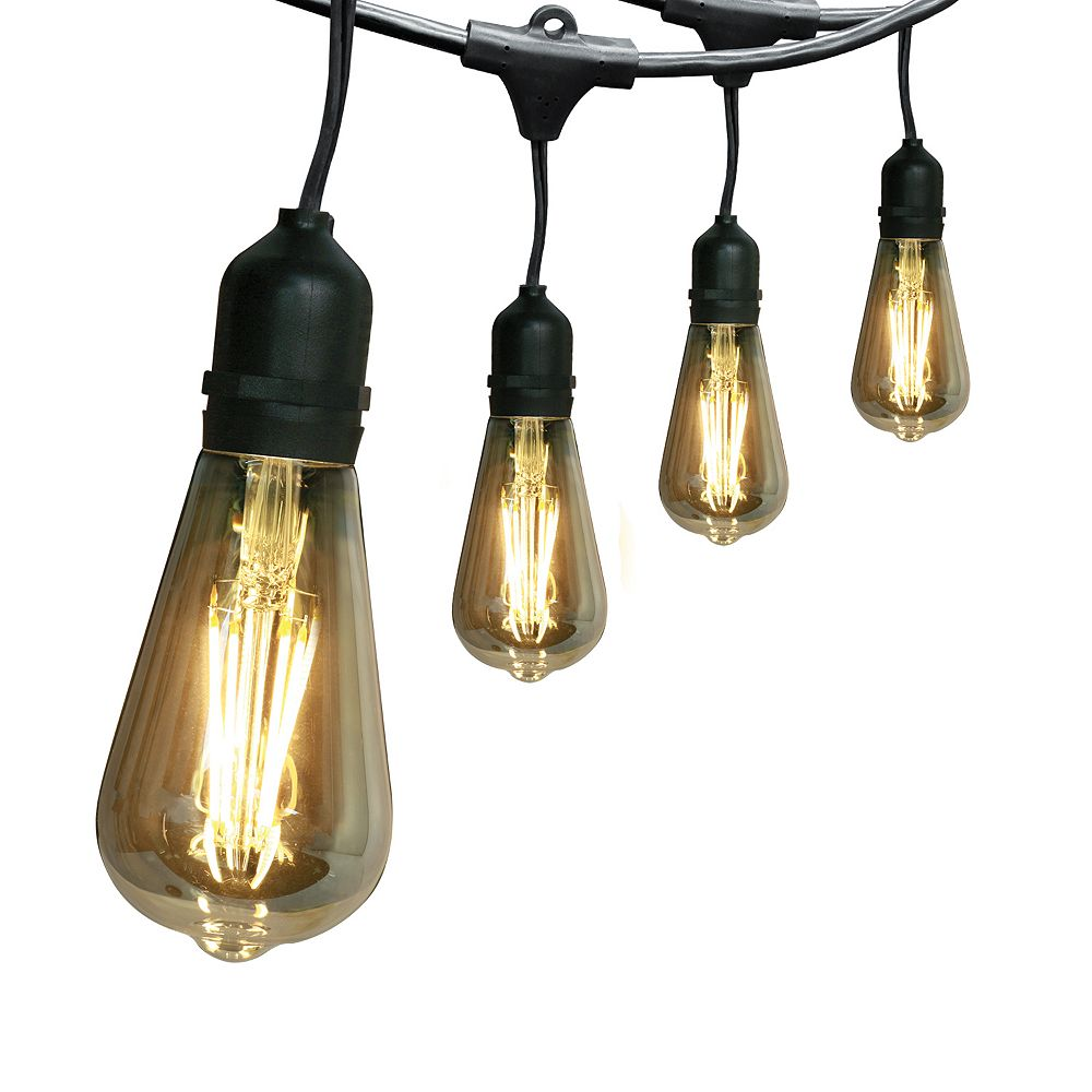 Feit Electric 15-Light Outdoor 30 ft. String Light Set with ST19 Filament LED Bulbs