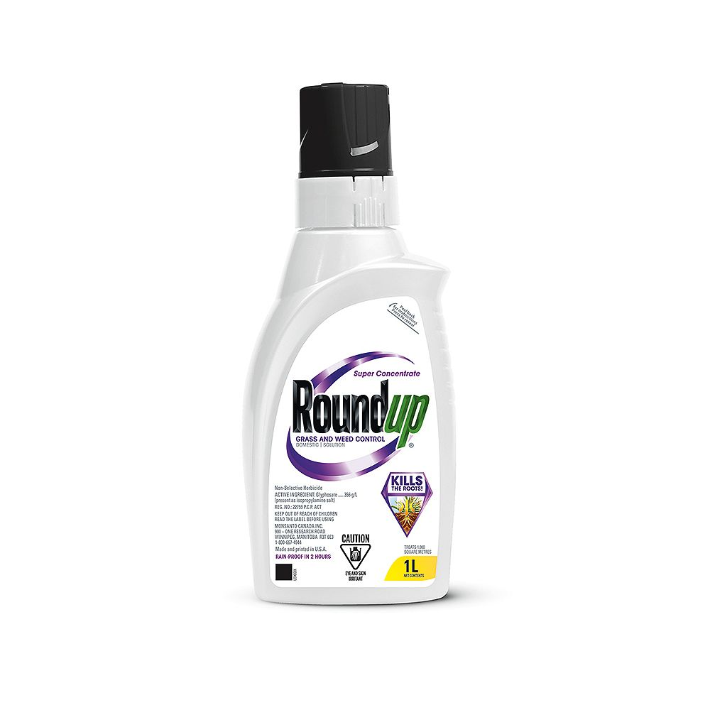 Roundup 1L Grass and Weed Control Super Concentrate