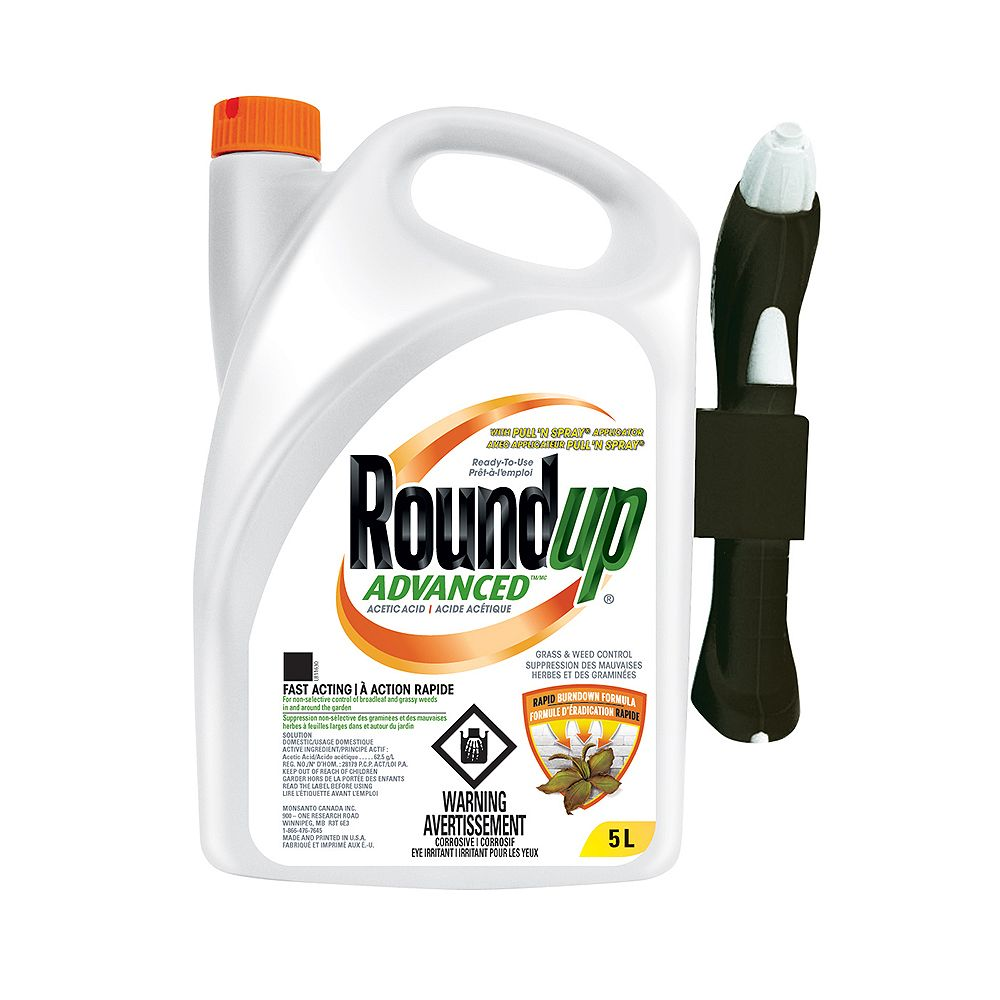 Roundup Advanced Grass and Weed Control Spray with Pull 'N Spray Applicator
