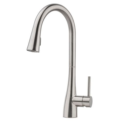 Aadaya Kitchen Pulldown Faucet in Stainless Steel