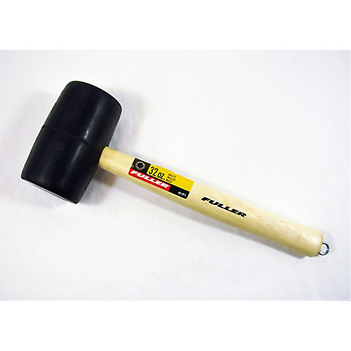32-Ounce Double-Faced Black Rubber Mallet