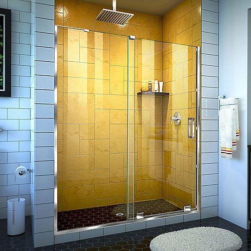 DreamLine Mirage-Z 50-54 inch W x 72 inch H Frameless Sliding Shower Door in Chrome