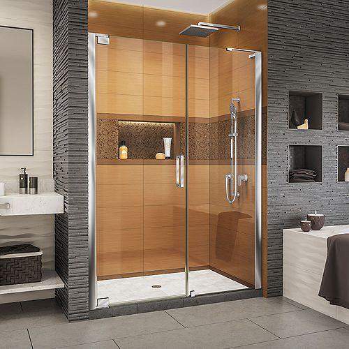 DreamLine Elegance-LS 54 1/4 - 56 1/4 inch W x 72 inch H Frameless Pivot Shower Door in Chrome