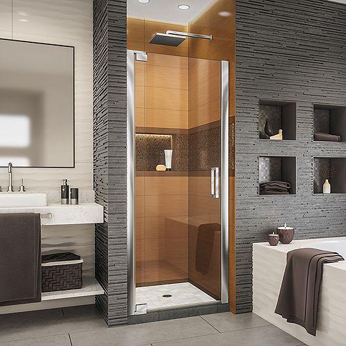 DreamLine Elegance-LS 35 3/4 - 37 3/4 inch W x 72 inch H Frameless Pivot Shower Door in Chrome