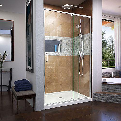 DreamLine Flex 38-42 inch W x 72 inch H Semi-Frameless Pivot Shower Door in Chrome