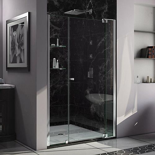 DreamLine Allure 47-48 inch W x 73 inch H Frameless Pivot Shower Door in Chrome