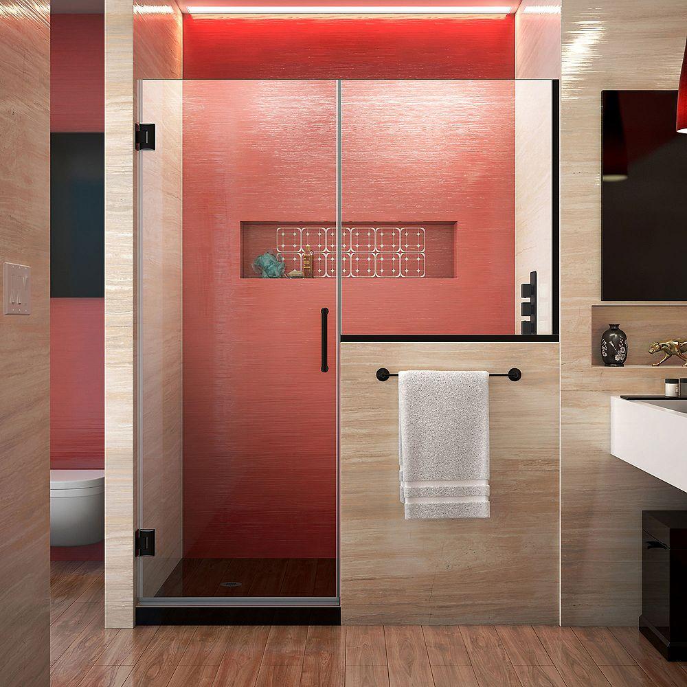 DreamLine Unidoor Plus 60-60 1/2 inch W x 72 inch  Door with 34 inch in Satin Black