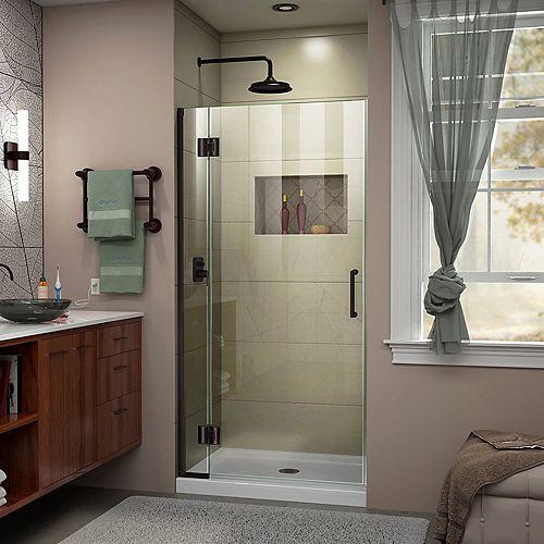 DreamLine Unidoor-X 32 inch W x 72 inch H Frameless Hinged Shower Door in Oil Rubbed Bronze