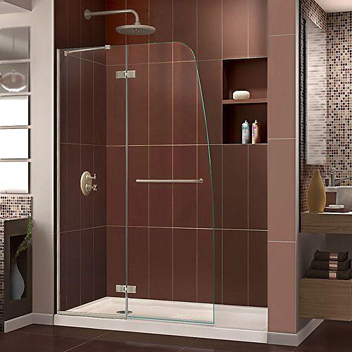 DreamLine Unidoor-X 73.66 cm. W x 182.88 cm. H Sans Cadre Articulé Porte de Douche en Bronze huilé
