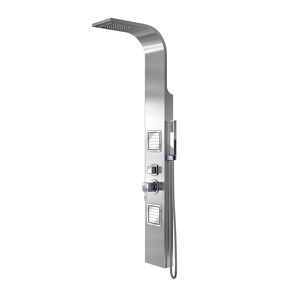 DreamLine Bonita 57 1/2 inch H Shower Panel System with Overhead Shower, 2 Body Jets and Handshower Wand