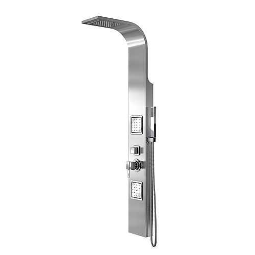 101.6 cm. D x 101.6 cm. W x 194.945 cm. H Base de douche et Kit de Backwall en Blanc